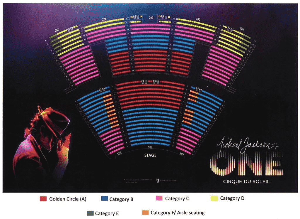Michael Jackson ONE Seating Chart